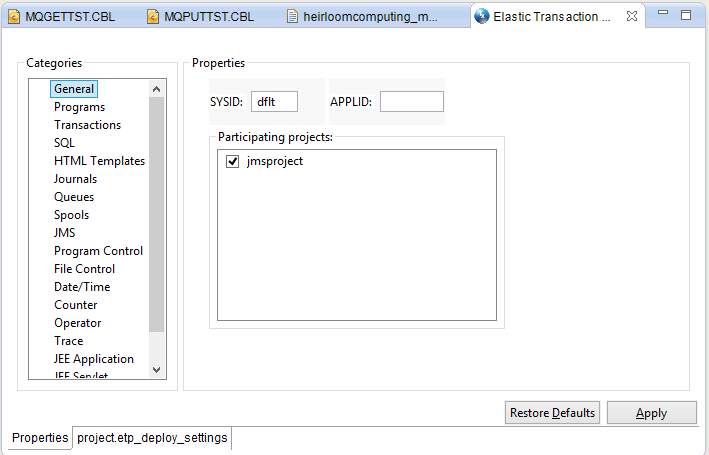 JMS Application in ETP Environment with ActiveMQ and
