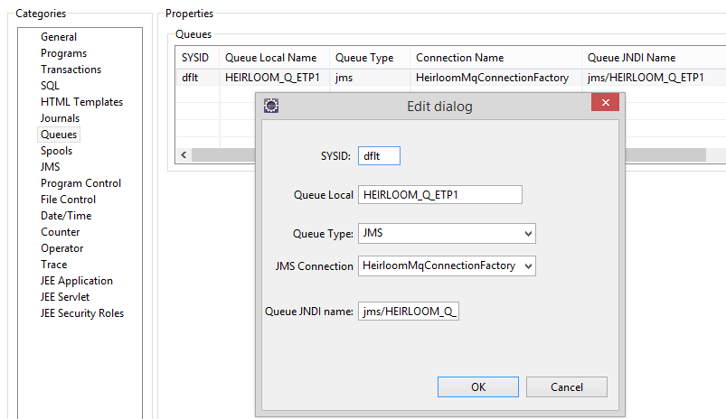 JMS Application in ETP Environment with WebsphereMQ and